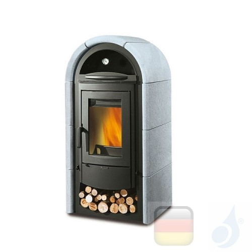 La Nordica Holzöfen mit Backofen Stefany Forno Bll 10.6 kW Naturstein Stein serie Armony 7113432 A+ Extraflame Nord-Extra-711...