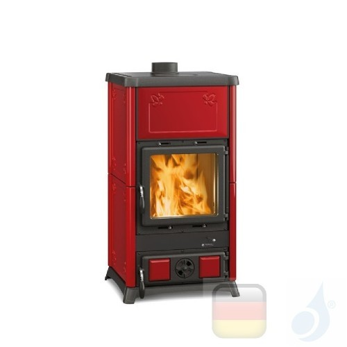 La Nordica Holzöfen Fedora 8.3 kW Gusseisen Bordeaux serie Armony 7112700 A+ Extraflame Nord-Extra-7112700