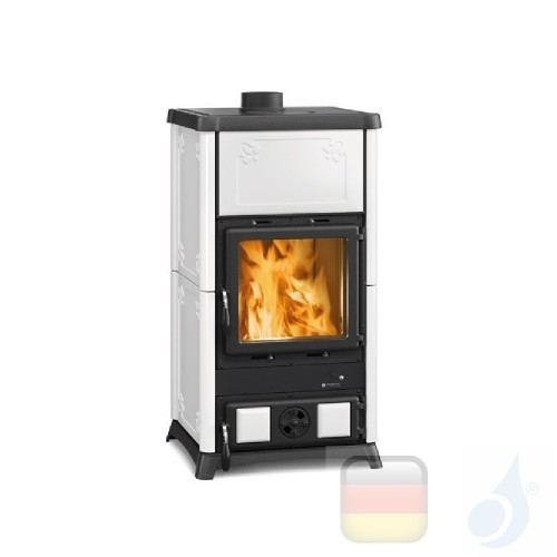 La Nordica Holzöfen Fedora 8.3 kW Gusseisen Weiß serie Armony 7112703 A+ Extraflame Nord-Extra-7112703