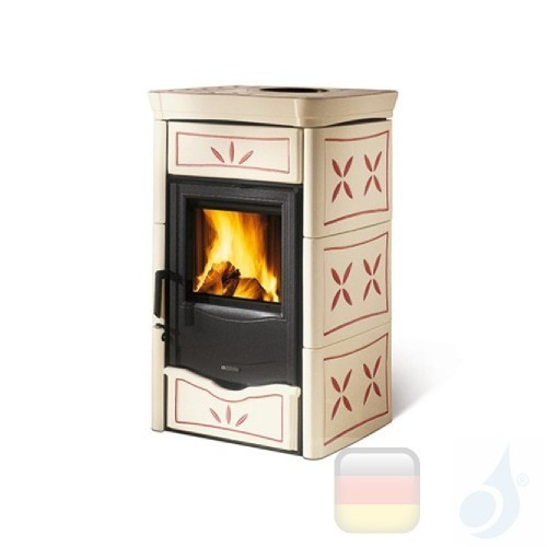 La Nordica Holzöfen Nicoletta 8.0 kW Gusseisen Ametista serie Armony 7116179 A+ Extraflame Nord-Extra-7116179