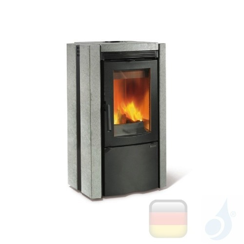 La Nordica Holzöfen Ester Bll 7.5 kW Naturstein Stein serie Armony 7116632 A Extraflame Nord-Extra-7116632