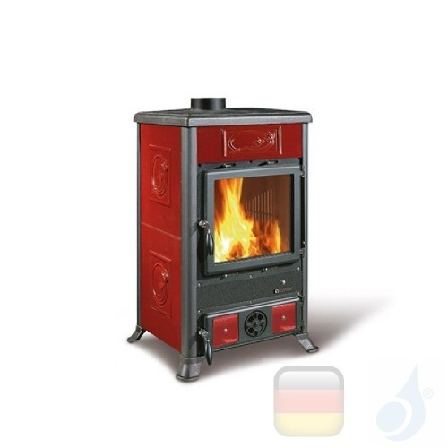 La Nordica Holzöfen Rossella R1 Bll 8.8 kW Gusseisen Bordeaux serie Rossella 7112150 A Extraflame Nord-Extra-7112150