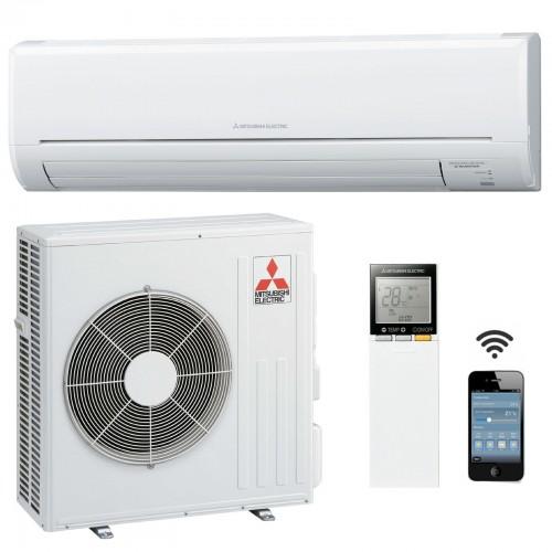 Mitsubishi Electric Klimaanlagen Mono Split R410A 21000 BTU Serie Plus MSZ-GF60VE+MUZ-GF60VE weiss 6,0 KW inverter Wärmepumpe...