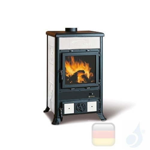 La Nordica Holzöfen Rossella R1 Bll 8.8 kW Gusseisen Weiß serie Rossella 7112157 A Extraflame Nord-Extra-7112157