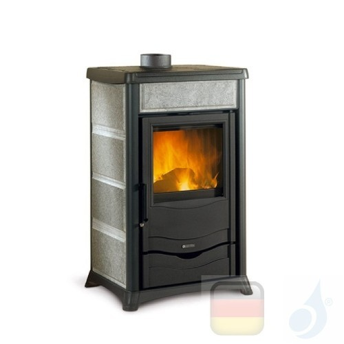La Nordica Holzöfen Rossella Plus 8.0 kW Naturstein Stein serie Rossella 7112262 A+ Extraflame Nord-Extra-7112262