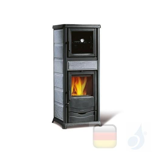 La Nordica Holzöfen mit Backofen Rossella Plus Forno Evo 9.1 kW Naturstein Stein serie Rossella 7112388 A+ Extraflame Nord-Ex...