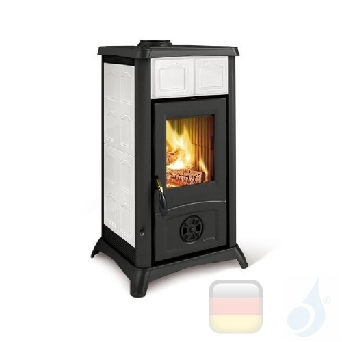 La Nordica Holzöfen Gemma 6.0 kW Keramic Weiß serie Gemma 7111603 A+ Extraflame Nord-Extra-7111603
