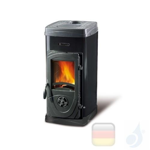 La Nordica Holzöfen Super Junior 5.0 kW Stahl Schwarz serie Bruciatutto 7111076 A Extraflame Nord-Extra-7111076