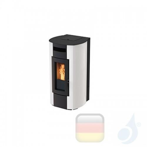 Ravelli Hydro Pelletofen HRV 250 GLASS 24.7 kW Beschichtungstyp glass Weiß A++ Ravelli-40009VR00-BCO