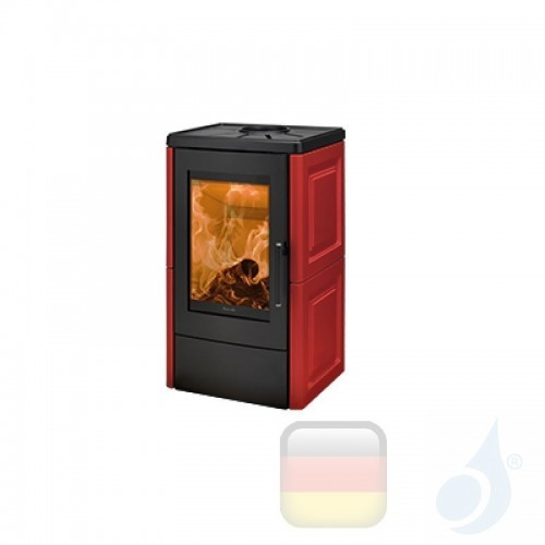Ravelli Holzofen LIA 8.5 kW Beschichtungstyp keramic Bordeaux A+ Ravelli-L23-KIT-BDX