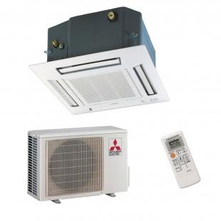 Mitsubishi Electric Klimaanlagen Mono Split R410A 18000 BTU Serie SLZ-KF50VA+SUZ-KA50VA 5,0 KW inverter Wärmepumpe SLZ-KF50VA...