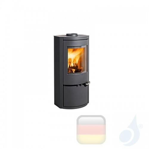 Ravelli Holzofen DAFNE 6 kW Beschichtungstyp metal Schwarz A+ mit Brennholz Schublade enthalten Ravelli-L0001CC01-BLK+Vano-L