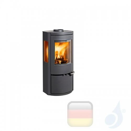 Ravelli Holzofen DAFNE VIEW 6 kW Beschichtungstyp metal Schwarz A+ mit Brennholz Schublade enthalten Ravelli-L0002DC01-BLK+Va...