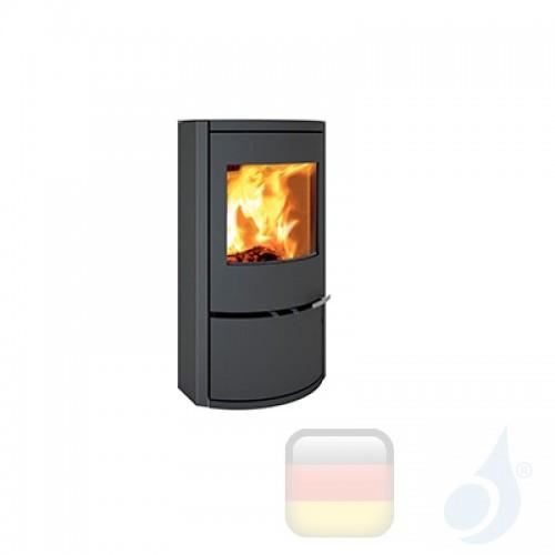 Ravelli Holzofen CALLIOPE 8 kW Beschichtungstyp metal Schwarz A+ mit Brennholz Schublade enthalten Ravelli-L003EC01-BLK+Vano-L