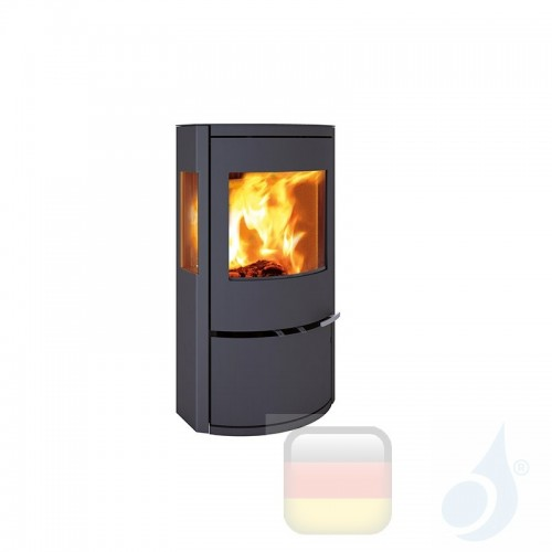 Ravelli Holzofen CALLIOPE VIEW 8 kW Beschichtungstyp metal Schwarz A+ mit Brennholz Schublade enthalten Ravelli-L005GC01-BLK+...