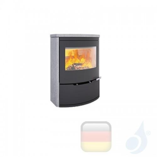 Ravelli Holzofen MINERVA STONE 9 kW Beschichtungstyp Stein A+ mit Brennholz Schublade enthalten Ravelli-L00071C07-BLK+Vano-L