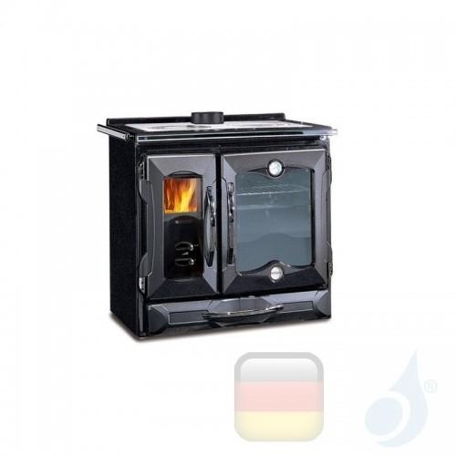 La Nordica Küchenofen Suprema 8.5 kW Gusseisen Schwarz serie Scheitholzherd 7015714 A Extraflame Nord-Extra-7015714