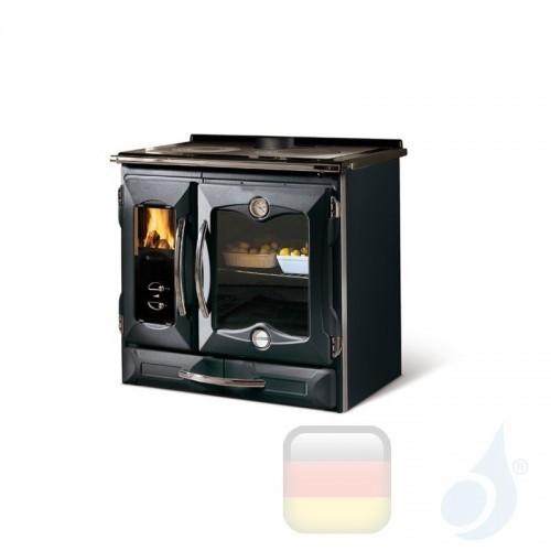 La Nordica Küchenofen Suprema 4.0 9.0 kW Gusseisen Schwarz serie Scheitholzherd 7015715 A+ Extraflame Nord-Extra-7015715
