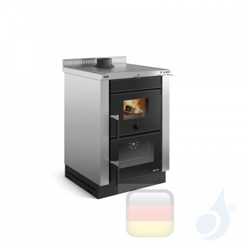 La Nordica Küchenofen Vicenza Evo 6.0 kW Stahl Inox serie Scheitholzherd 7016101 A+ Extraflame Nord-Extra-7016101