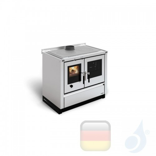 La Nordica Küchenofen Padova 8.0 kW Stahl Inox serie Scheitholzherd 7016300 A Extraflame Nord-Extra-7016300