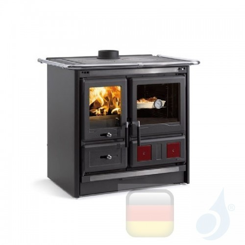 La Nordica Küchenofen Rosa L 8.1 kW Stahl Anthrazit serie Scheitholzherd 7015185 A+ Extraflame Nord-Extra-7015185
