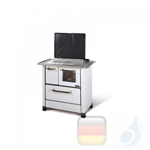 La Nordica Küchenofen Romantica 4.5 6.0 kW Stahl Weiß serie Scheitholzherd 1014056 B Extraflame Nord-Extra-1014056
