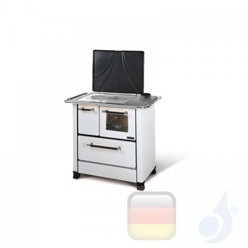 La Nordica Küchenofen Romantica 3.5 5.0 kW Stahl Weiß serie Scheitholzherd 1013051 A Extraflame Nord-Extra-1013051