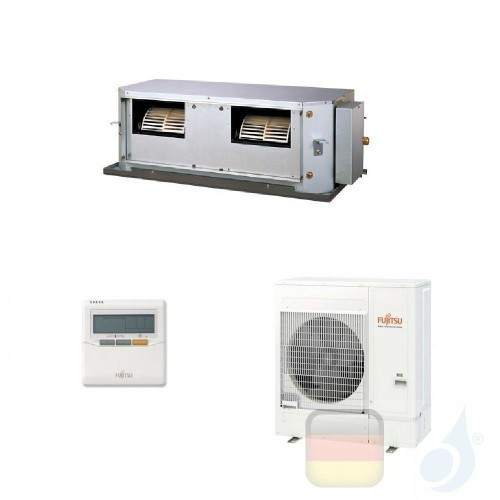 Fujitsu Gewerbeklimaanlagen Mono Split 9000 Btu Kassettengerät Kompakt ECO KV Inverter AUXG09KVLA AOYG09KATA 3NGF88100 R-32 A...