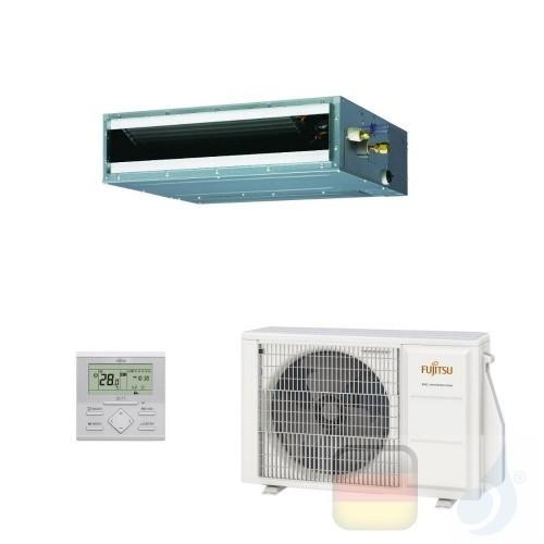 Fujitsu Klimaanlage 9000 Btu Kanaleinbaugeräte ECO KL Kompakt ARXG09KLLAP AOYG09KATA 3NGF89110 R-32 220v ARXG09KLLAP+AOYG09KATA