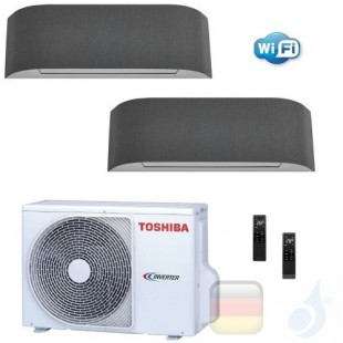 Toshiba Klimaanlagen Duo Split Wand 9000+9000 Btu R-32 Haori B10N4KVRG B10N4KVRG 2M14U2AVG A++ A++ 2.5+2.5 kW B10N4KVRG+B10N4...