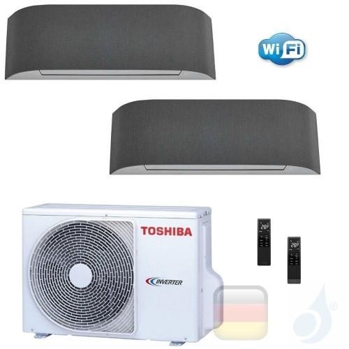 Toshiba Klimaanlagen Duo Split Wand 9000+12000 Btu R-32 Haori B10N4KVRG B13N4KVRG 2M14U2AVG A++ A++ 2.5+3.5 kW B10N4KVRG+B13N...