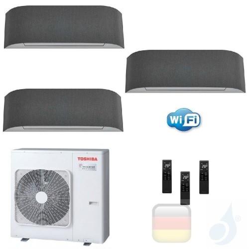 Toshiba Klimaanlagen Trio Split Wand 9000+9000+9000 Btu + RAS-3M26U2AVG-E R-32 Haori A++ A+ 2.5+2.5+2.5 kW KVRG_9+9+9+RAS-3M2...