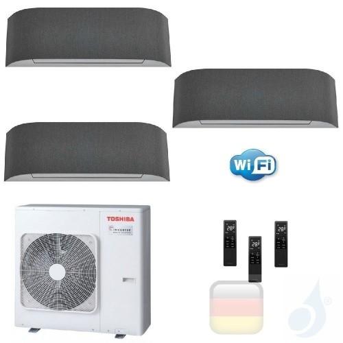 Toshiba Klimaanlagen Trio Split Wand 12000+12000+12000 Btu + RAS-3M26U2AVG-E R-32 Haori A++ A+ 3.5+3.5+3.5 kW KVRG_12+12+12+R...