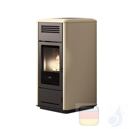 Edilkamin Hydro Pelletofen Milla H 15 15.3 kW Ausschaltbares Warmluftgebläse Pergamena Beschichtungstyp keramic A++ EdilK-809900