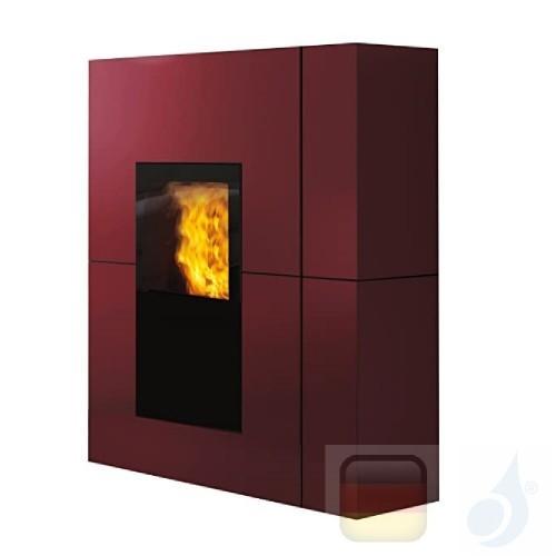 Edilkamin Hydro Pelletofen Blade H 18 18.7 kW Ausschaltbares Warmluftgebläse Bordeaux Beschichtungstyp stahl A++ EdilK-805910