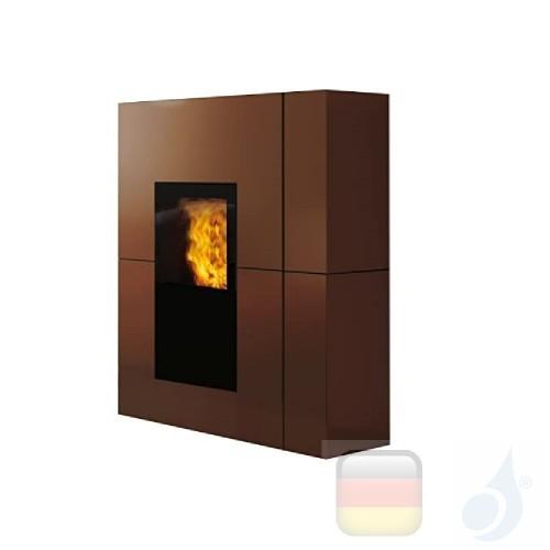 Edilkamin Hydro Pelletofen Blade H 18 18.7 kW Ausschaltbares Warmluftgebläse Bronze Beschichtungstyp stahl A++ EdilK-805930
