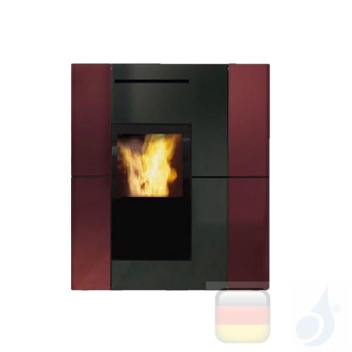 Edilkamin Hydro Pelletofen Blade H 18 Ekleaner 18.7 kW Ausschaltbares Warmluftgebläse Bordeaux Beschichtungstyp keramic A++ E...