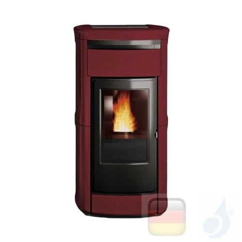 Edilkamin Hydro Pelletofen Kyra H 22 Ekleaner 22.5 kW Ausschaltbares Warmluftgebläse Bordeaux Beschichtungstyp keramic A++ Ed...