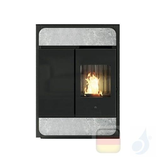 Edilkamin Raumluftunabhängige Pelletöfen Bild Air Tight C 9.1 kW Ductable Stein Beschichtungstyp naturstein A+ EdilK-807250