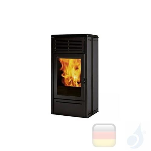 Edilkamin Pelletofen Nara2 6.9 kW Schwarz Beschichtungstyp keramic A+ EdilK-809710