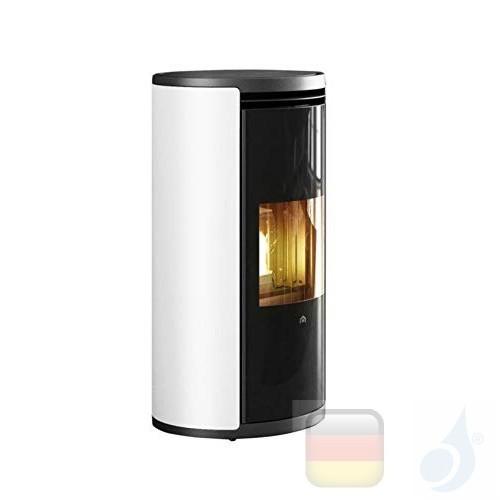 Edilkamin Pelletofen Evia2 7.9 kW Weiß Beschichtungstyp metal A+ EdilK-809740