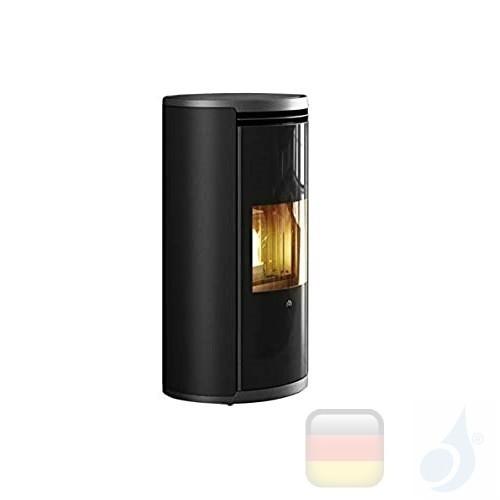 Edilkamin Pelletofen Evia2 7.9 kW Schwarz Beschichtungstyp metal A+ EdilK-809750