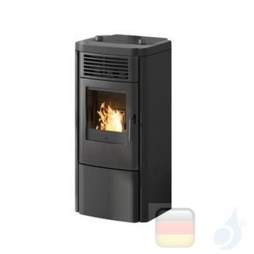 Edilkamin Pelletofen Klik 8.3 kW Schwarz Beschichtungstyp keramic A+ EdilK-807170