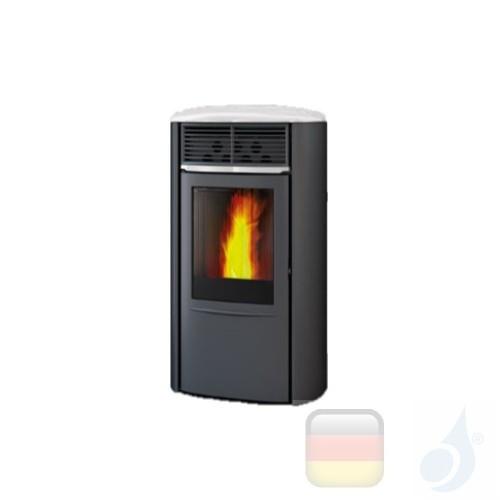 Edilkamin Pelletofen Aris UP Plus 8.0 kW Ductable Weiß Beschichtungstyp stahl-keramic A+ EdilK-806920