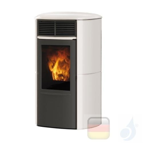 Edilkamin Pelletofen Aris UP Plus 8.0 kW Ductable Weiß Beschichtungstyp keramic A+ EdilK-806880