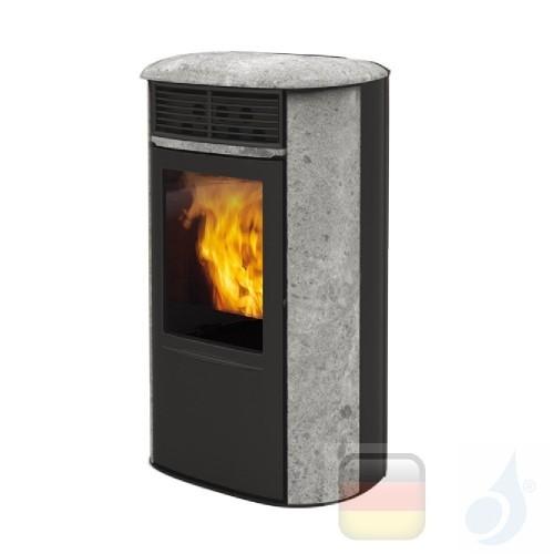 Edilkamin Pelletofen Aris UP Plus 8.0 kW Ductable Stein Beschichtungstyp naturstein A+ EdilK-806970