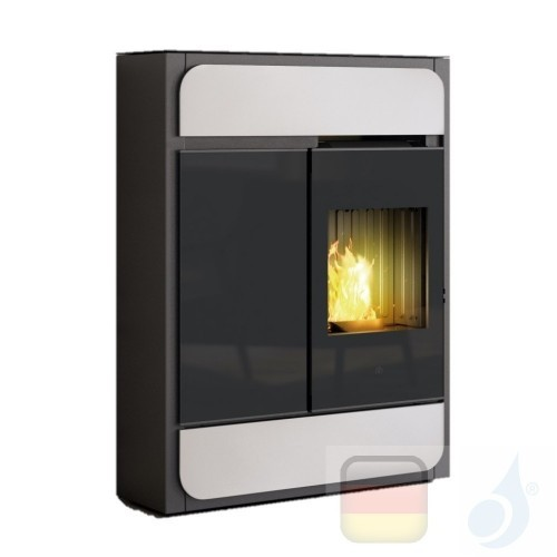 Edilkamin Pelletofen Bild 9.1 kW Ductable Weiß Beschichtungstyp stahl-keramic A+ EdilK-807190