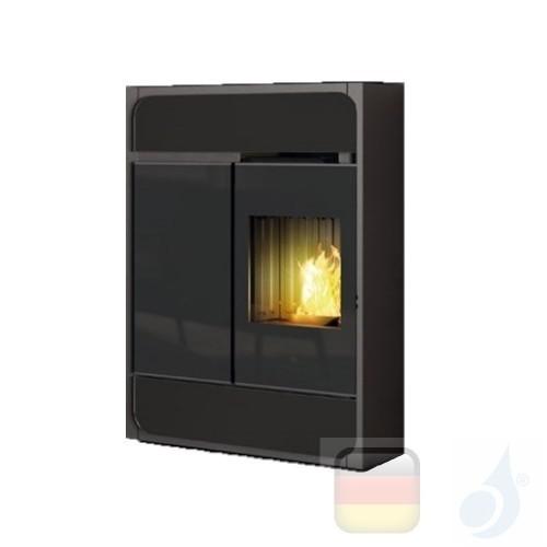 Edilkamin Pelletofen Bild 9.1 kW Ductable Schwarz Beschichtungstyp stahl-keramic A+ EdilK-807200