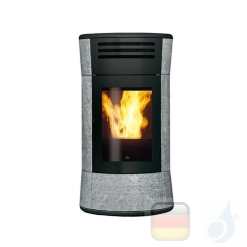 Edilkamin Pelletofen Cherie Up 11.2 kW Ductable Stein Beschichtungstyp naturstein A+ EdilK-805700