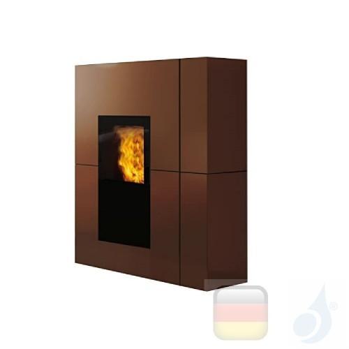 Edilkamin Pelletofen Blade 12.1 kW Ductable Bronze Beschichtungstyp stahl A+ EdilK-808100